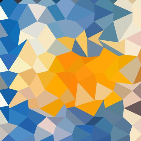 azure: Low polygon style illustration of azure blue abstract geometric background.
