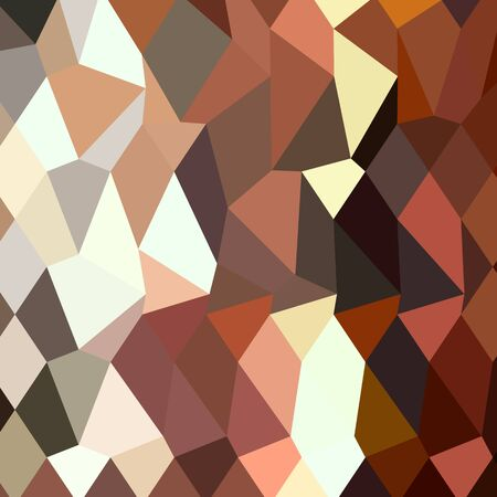 burnt: Low polygon style illustration of burnt sienna abstract geometric background. Illustration
