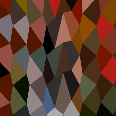 umber: Low polygon style illustration of a burnt umber abstract geometric background.