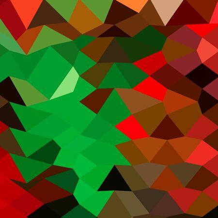 polyhedron: Ilustraci�n de estilo poligonal baja de un fondo abstracto geom�trico verde Bice. Vectores