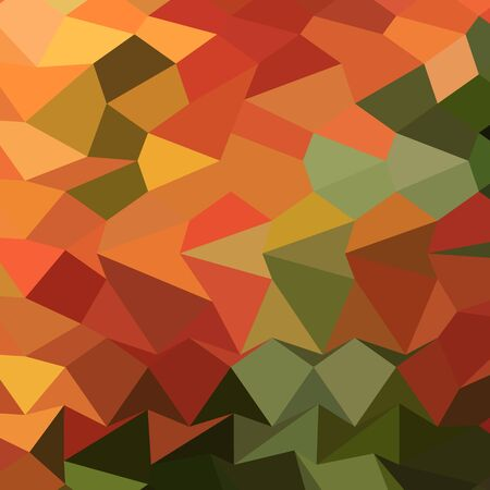 the polyhedron: Low polygon style illustration of deep saffron orange abstract geometric background.
