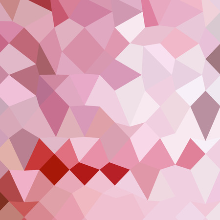 cameo: Low polygon style illustration of a cameo pink abstract geometric background.