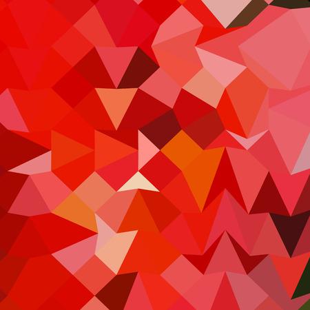 polyhedron: Ilustraci�n de estilo poligonal baja de una manzana de caramelo rojo Fondo geom�trico abstracto. Vectores