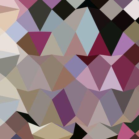 polyhedron: Ilustraci�n de estilo poligonal baja de fucsia antiguo fondo abstracto geom�trico. Vectores
