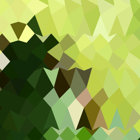 apple green: Low polygon style illustration of apple green abstract geometric background.