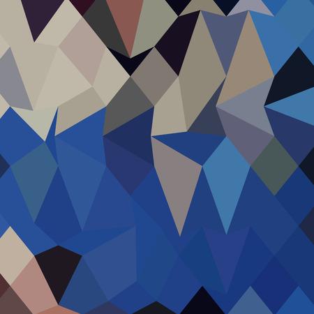 polyhedron: Ilustraci�n de estilo poligonal Alta de fondo geom�trico abstracto bluebonnet.