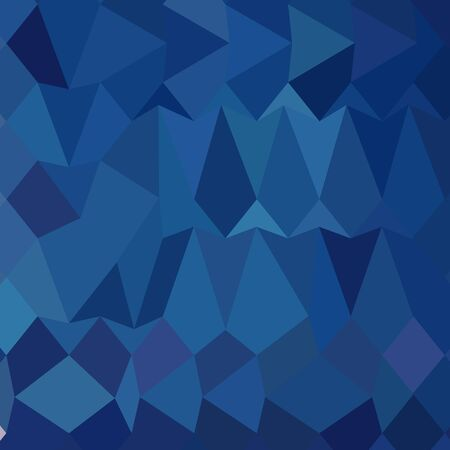 Low polygon style illustration of a cobalt blue abstract geometric background. Illustration