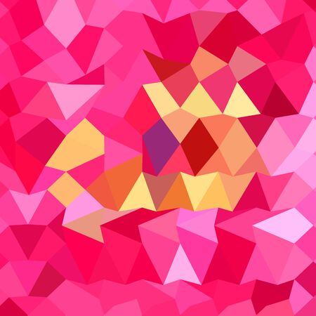 brink: Low polygon style illustration of a brink pink abstract geometric background. Illustration
