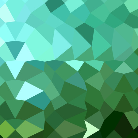 polyhedron: Low polygon style illustration of dartmouth green abstract geometric background.