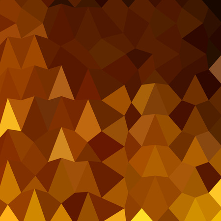 burnt: Low polygon style illustration of burnt umber brown abstract geometric background. Illustration