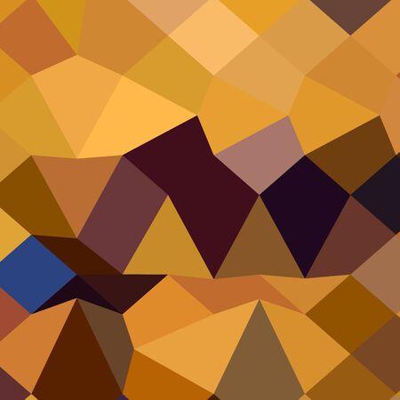polyhedron: Ilustraci�n de estilo poligonal baja de lim�n amarillo oscuro Fondo geom�trico abstracto.