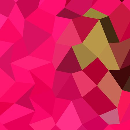 fuschia: Low polygon style illustration of american rose abstract geometric background.