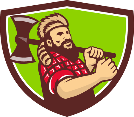 lumberjack: Illustration of a lumberjack Illustration