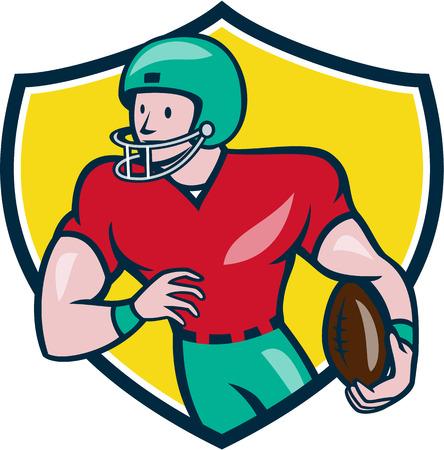 gridiron: Illustration of an american football gridiron