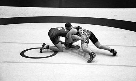 downunder: AUCKLAND-JUL. 3, 2015: Wrestlers, 16-20 years old from USA, Australia, New Zealand and American Samoa participate and compete in the International Downunder Wrestling Challenge at the North Shore Event Centre, Auckland New Zealand.