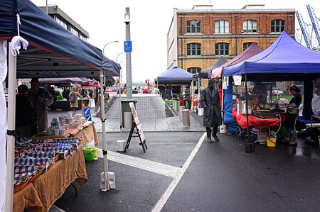 growers: JUN. 20-AUCKLAND: The City Farmers� Market where local growers, farmers and artisan food producers sell their wares directly to consumers in Britomart, Auckland, New Zealand taken on June 20, 2015. Editorial