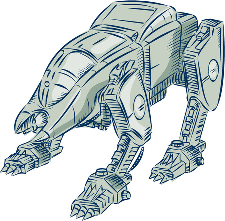 illustration of a battle-type animal