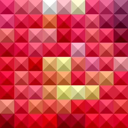 the polyhedron: Illustration of electric crimson Illustration
