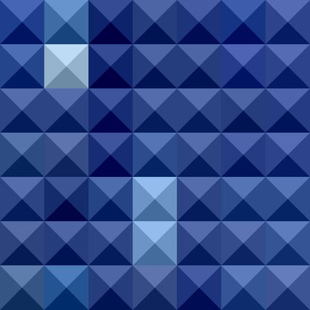 polyhedron: Illustration of cobalt blue abstract geometric background