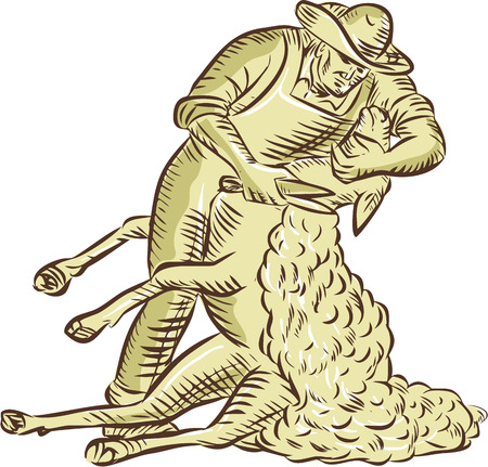 illustration of a farmworker