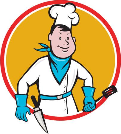 baker cartoon: Illustration of a chef  Illustration