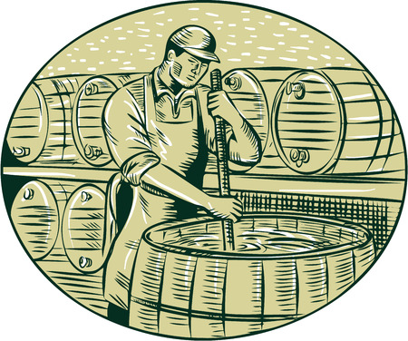 brewer: Ilustraci�n de un cervecero