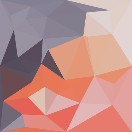 atomic: Illustration of atomic tangerine orange abstract geometric background Illustration