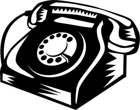 bakelite: Illustration of a vintage telephone