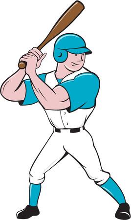 Illustratie van een Amerikaanse honkbalspeler