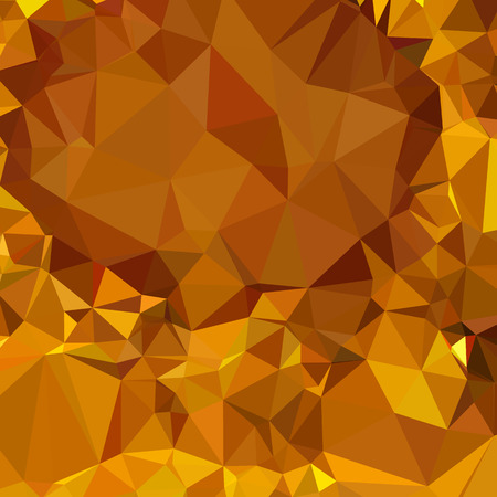 the polyhedron: Illustration of a dark tangerine yellow abstract geometric background