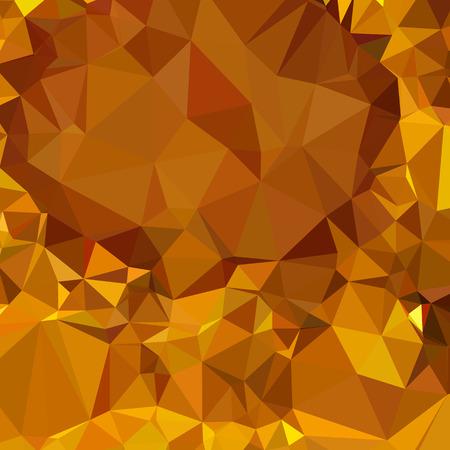 polyhedron: Ilustraci�n de una mandarina amarillo oscuro fondo geom�trico abstracto