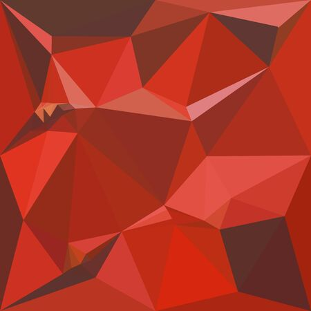 polyhedron: Illustration of auburn red abstract geometric background