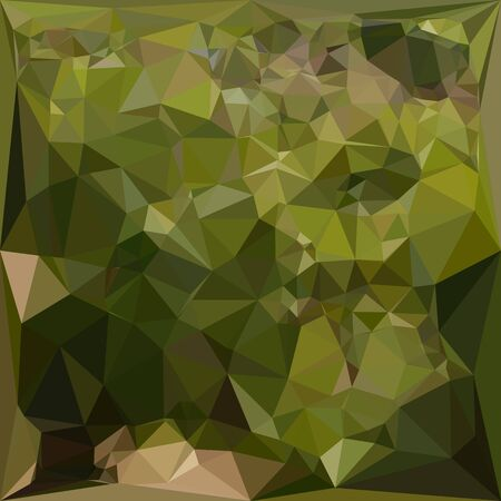 the polyhedron: Illustration of an olive green abstract geometric background Illustration