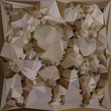 polyhedron: Ilustraci�n de un fondo abstracto geom�trico marr�n franc�s Vectores