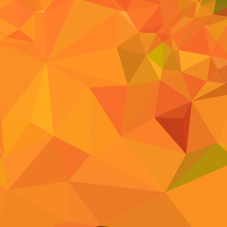 polyhedron: Low polygon style illustration of pumpkin orange abstract geometric background. Vectores