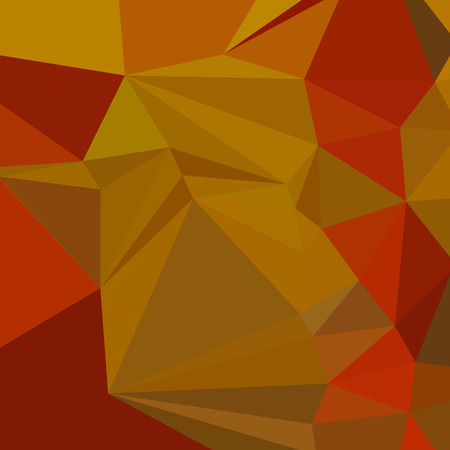 tawny: Low polygon style illustration of a tenne tawny orange abstract geometric background.