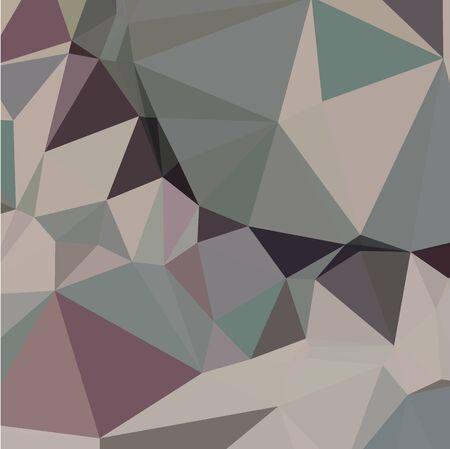 polyhedron: Ilustraci�n de estilo poligonal baja de laurel fondo geom�trico abstracto verde.
