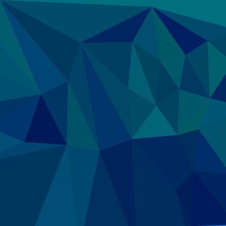 polyhedron: Ilustraci�n de estilo poligonal baja de un medio azul del trullo Fondo geom�trico abstracto.