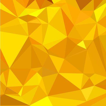 polyhedron: Ilustraci�n de estilo poligonal baja de un peridoto amarilla Fondo geom�trico abstracto.
