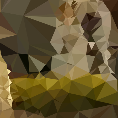 polyhedron: Ilustraci�n de estilo poligonal baja de una selva de fondo geom�trico abstracto de color verde medio. Vectores