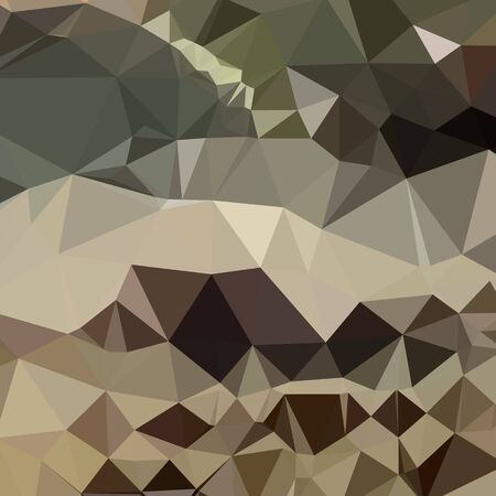 drab: Low polygon style illustration of a drab brown blue abstract geometric background.