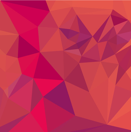 fuschia: Low polygon style illustration of a jazberry jam red abstract geometric background. Illustration