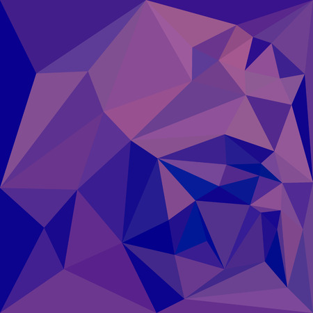 polyhedron: Low polygon style illustration of a han purple abstract geometric background.