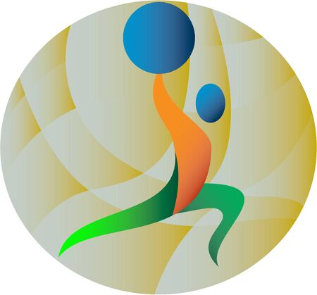 weightlifter: Illustration of a weightlifter lifting weights viewed from the side set inside circle done in retro style. Illustration