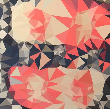 polyhedron: Low polygon style illustration of a coral red abstract geometric background.