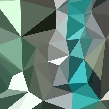 persian green: Low polygon style illustration of a persian green abstract geometric background.