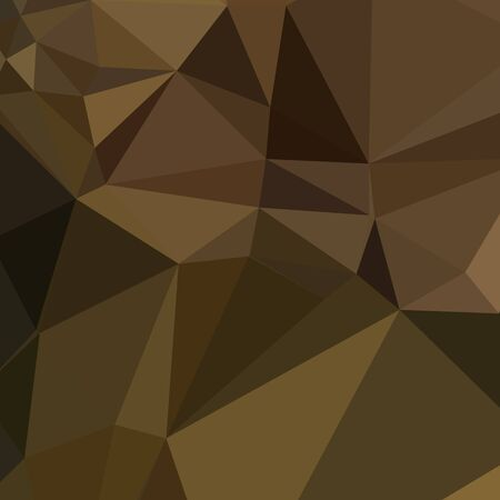 caput: Low polygon style illustration of a carput mortuum brown abstract geometric background. Stock Photo