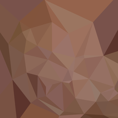 caput: Low polygon style illustration of a caput mortuum brown abstract geometric background.