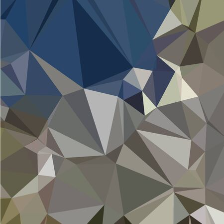 ash: Low polygon style illustration of ash grey abstract geometric background.