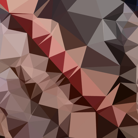 bulgarian: Low polygon style illustration of a bulgarian rose brown abstract geometric background.